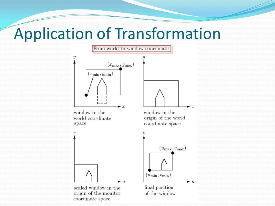 Application of Transformation