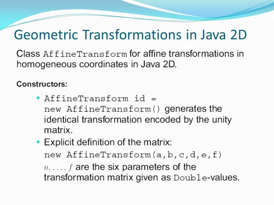 Geometric Transformations in Java 2D