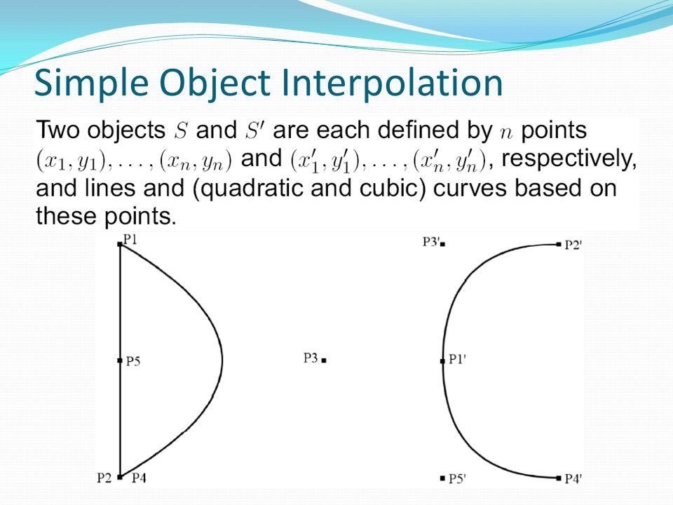 Simple Object Interpolation