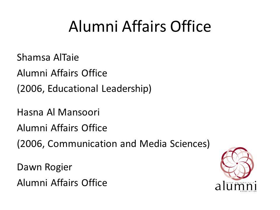 Alumni Association Structure Every graduate is a member of the Alumni Association.