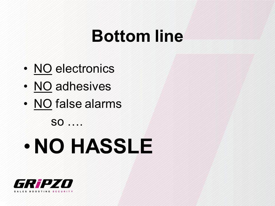 Bottom line NO electronics NO adhesives NO false alarms so …. NO HASSLE