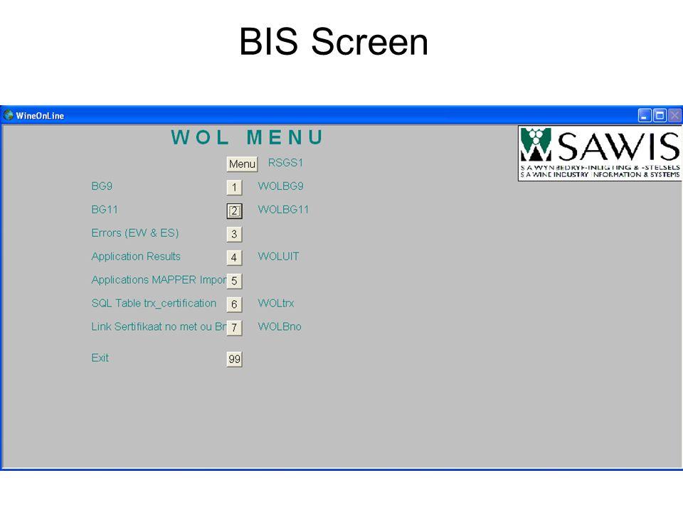 BIS Screen