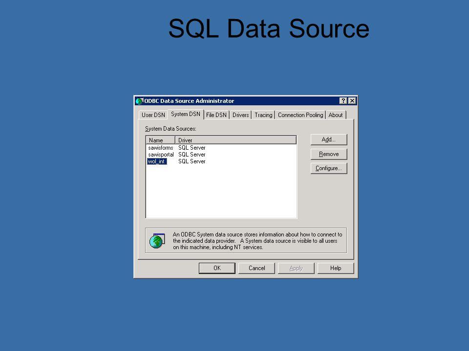 SQL Data Source