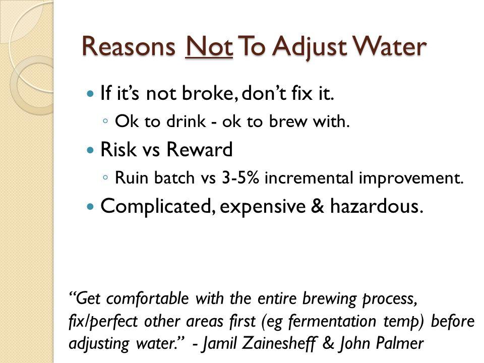 Brewing Minerals & Salts Add Viagr/gal ppm Notes CalciumCalcium Sulphate (Gypsum) Calcium Chloride.