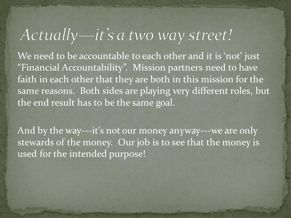 Grow the faith and trust between partners---how??.
