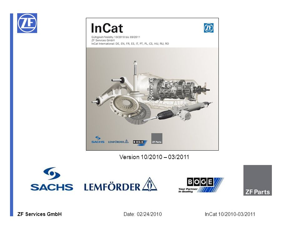 ZF Services GmbH Date: 02/24/2010 InCat 10/2010-03/2011 6a) Additional Modules: OSS (Accesible only for OSS partners.