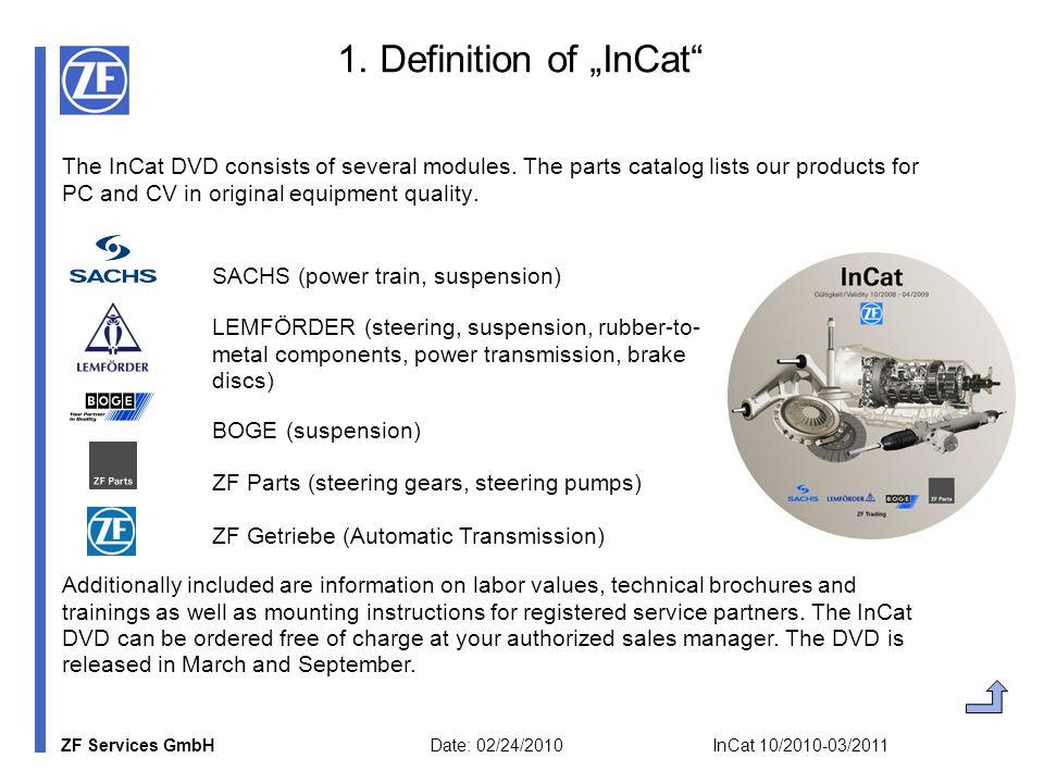 ZF Services GmbH Date: 02/24/2010 InCat 10/2010-03/2011 2.