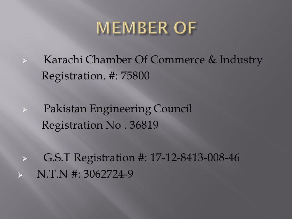  Karachi Chamber Of Commerce & Industry Registration.