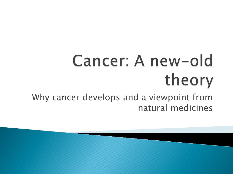 Why cancer develops and a viewpoint from natural medicines