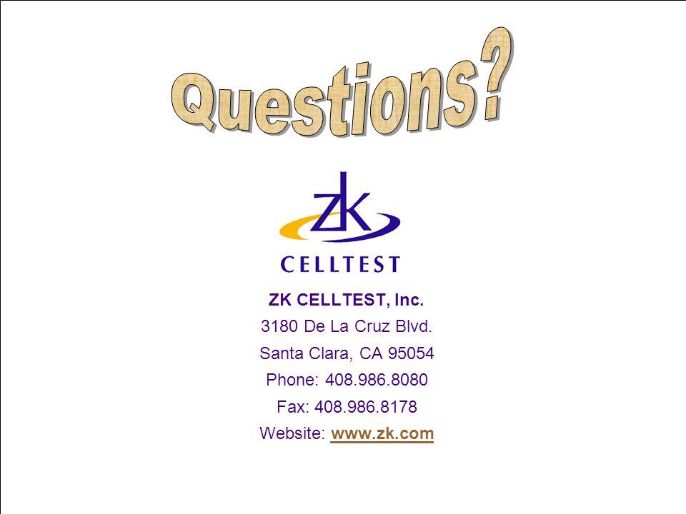 ZK CELLTEST, Inc.3180 De La Cruz Blvd.