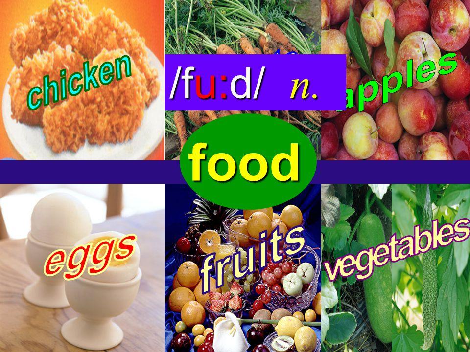 vegetable /`veʤtəbəl / n. s