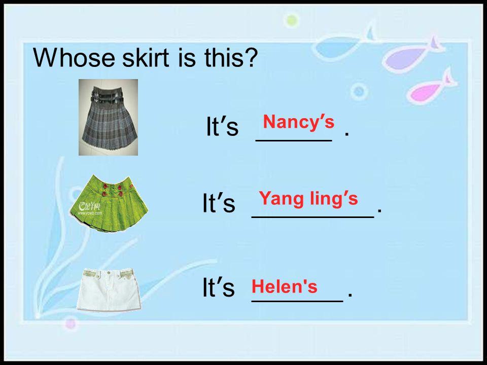 Nancy'sYang ling'sHelen's (remember them)