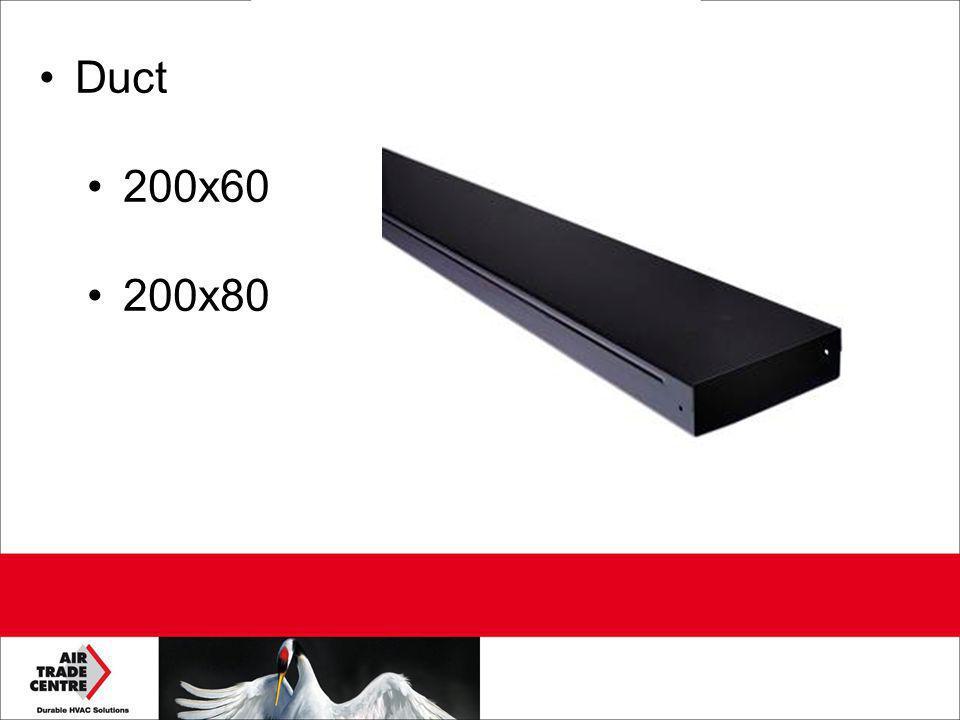 Duct 200x60 200x80