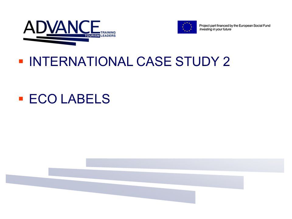  INTERNATIONAL CASE STUDY 2  ECO LABELS