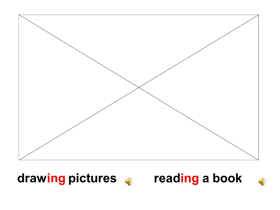 drawing picturesreading a book