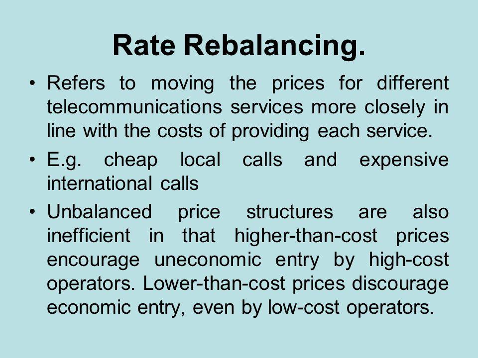 Rate Rebalancing.