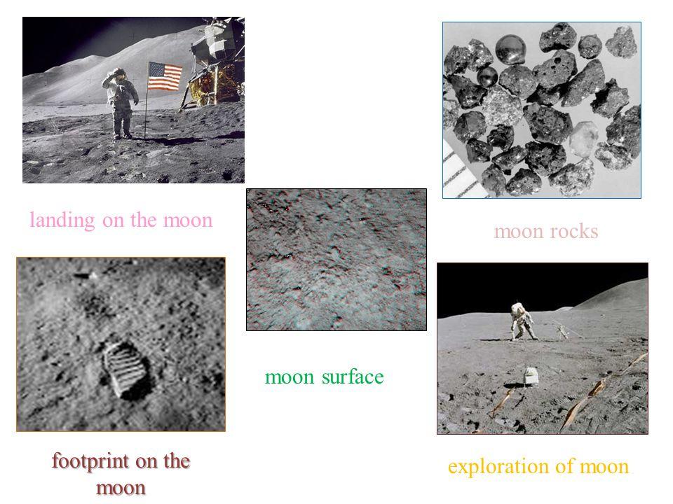 moon rocks exploration of moon moon surface footprint on the moon landing on the moon