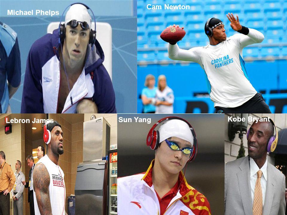 Michael Phelps Cam Newton Lebron James Sun Yang Kobe Bryant
