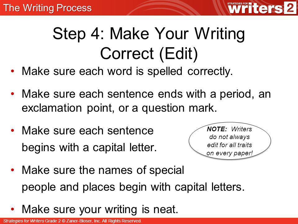 Strategies for Writers Grade 2 © Zaner-Bloser, Inc.