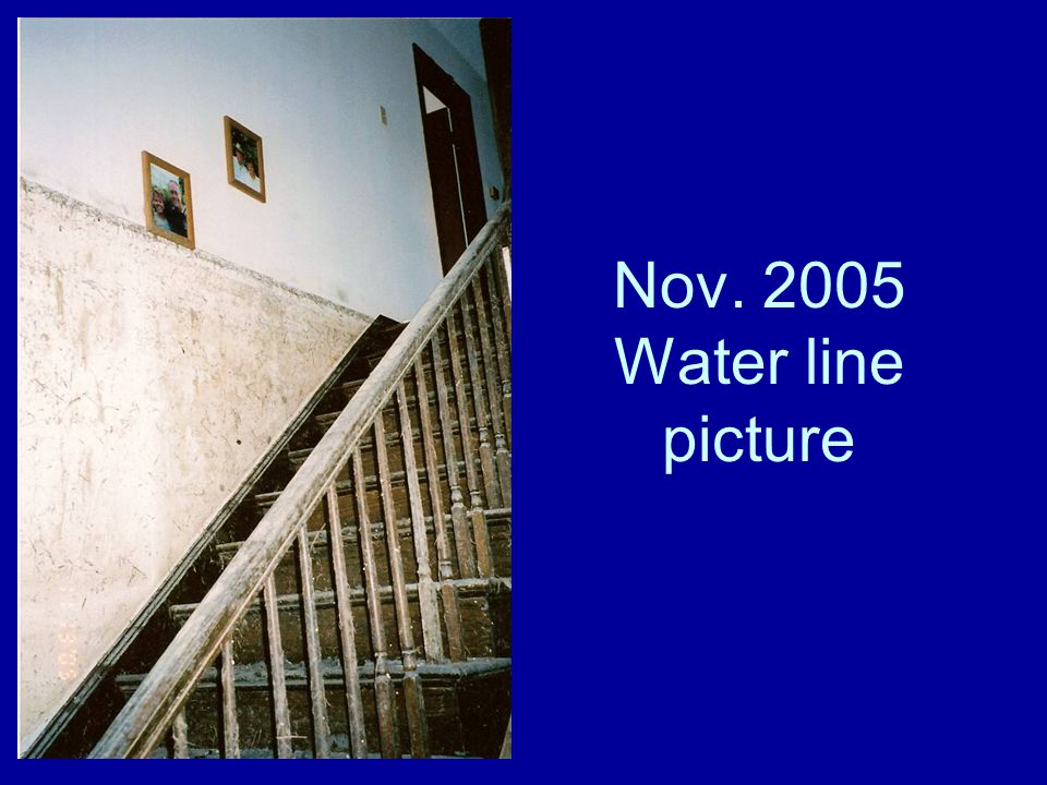 Nov. 2005 Water line picture