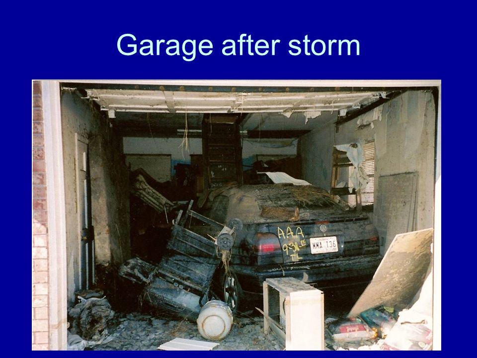 Garage after storm