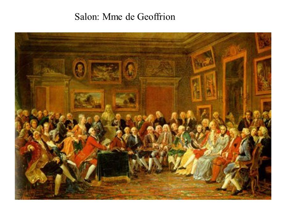 Salon: Mme de Geoffrion