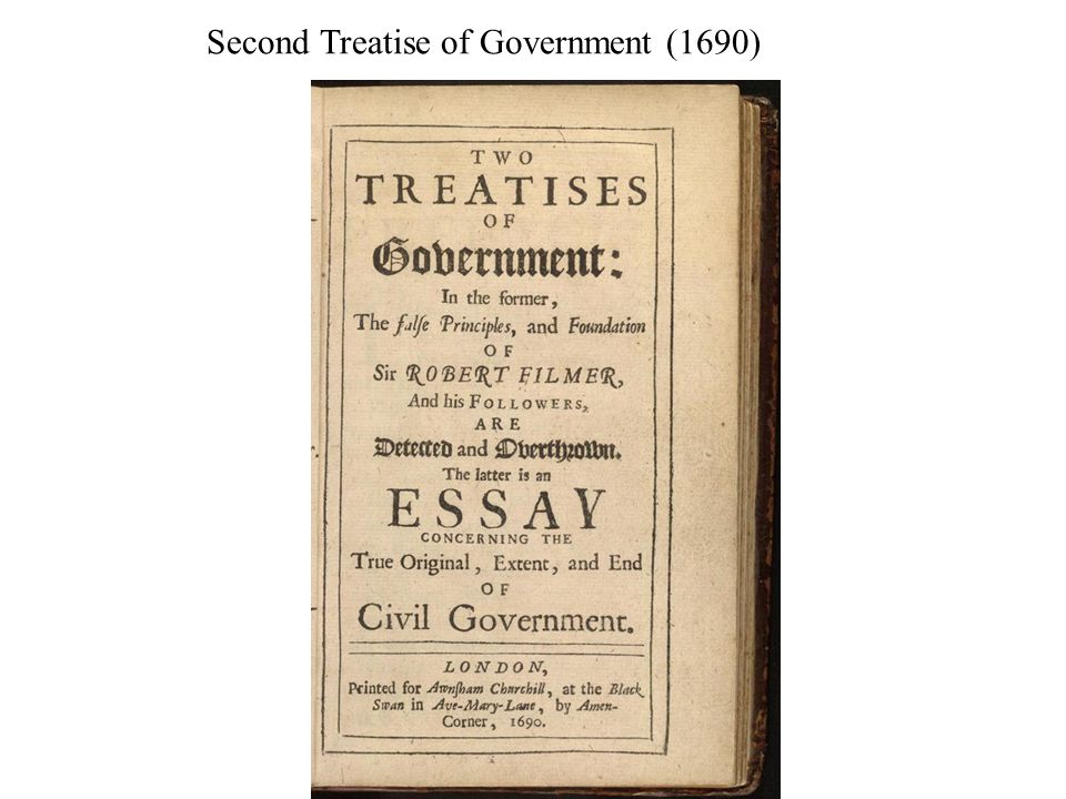 Second Treatise of Government (1690)