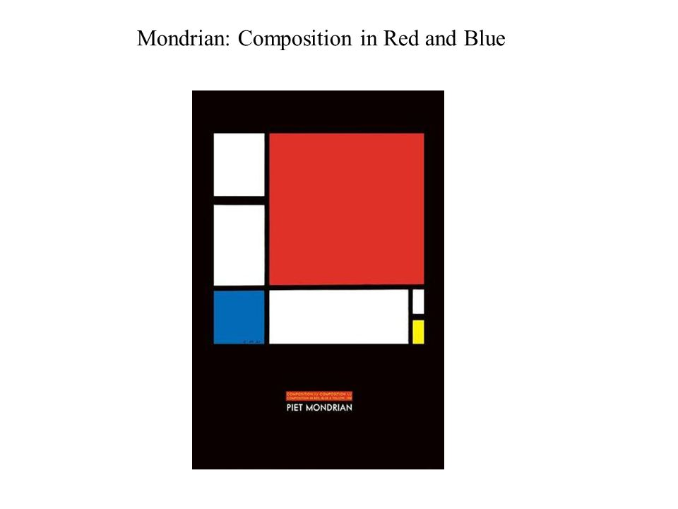 Mondrian: Composition in Red and Blue