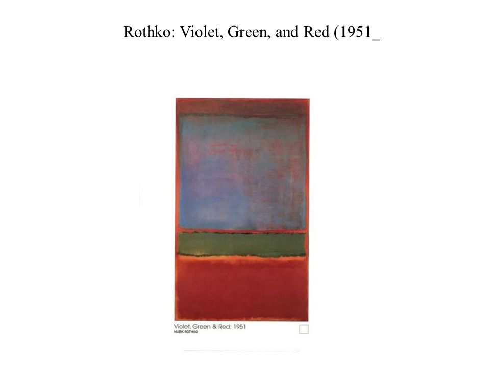 Rothko: Violet, Green, and Red (1951_
