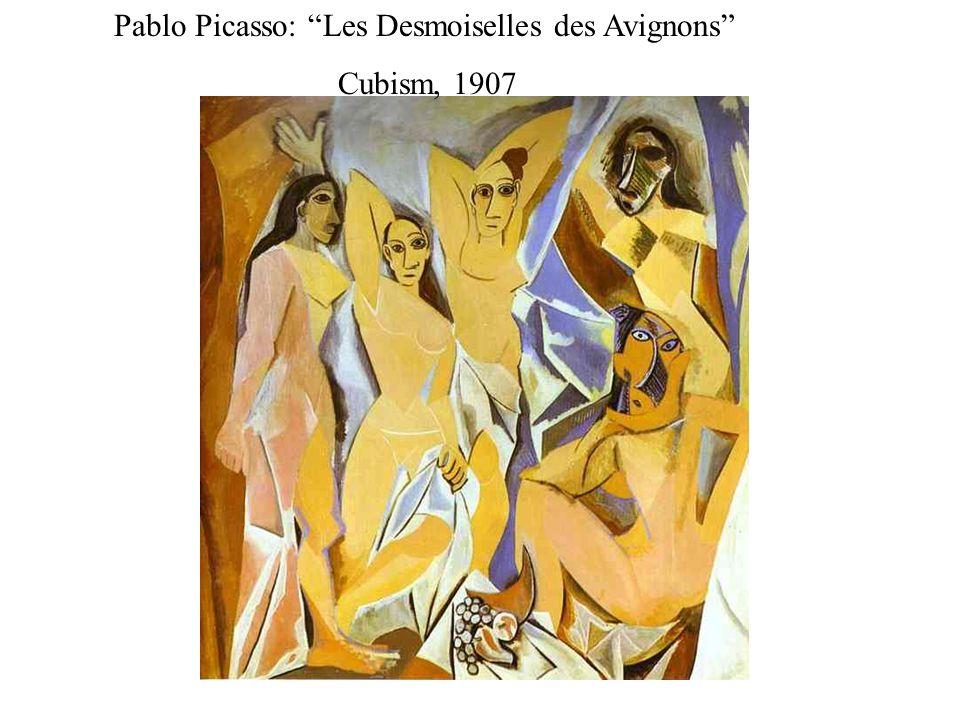 Pablo Picasso: Les Desmoiselles des Avignons Cubism, 1907
