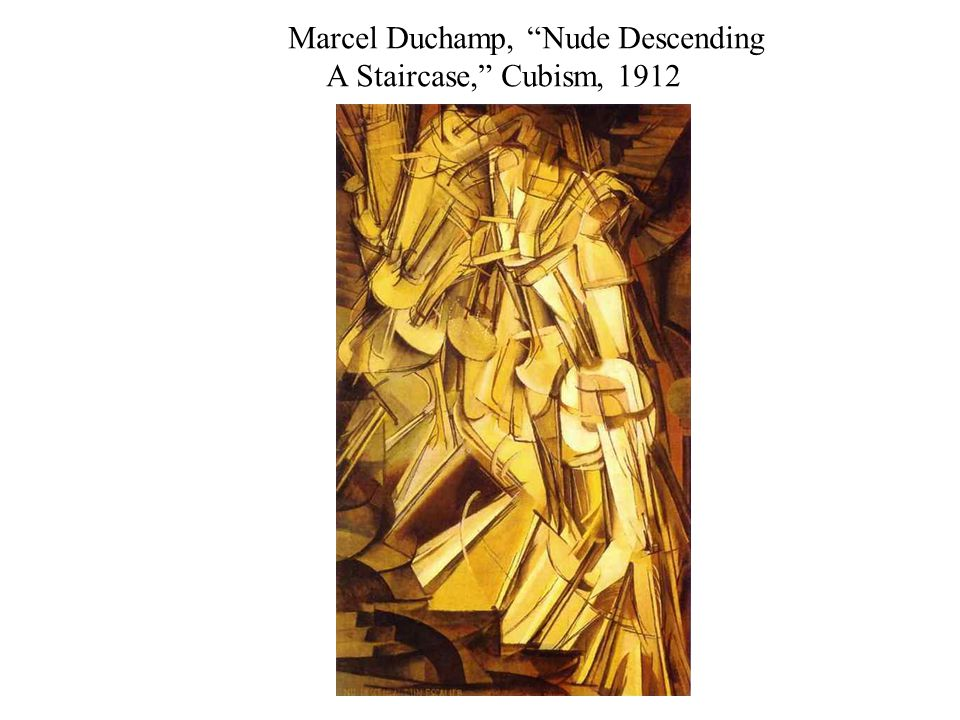 Marcel Duchamp, Nude Descending A Staircase, Cubism, 1912