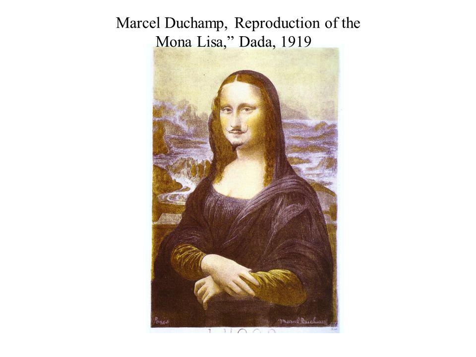 Marcel Duchamp, Reproduction of the Mona Lisa, Dada, 1919