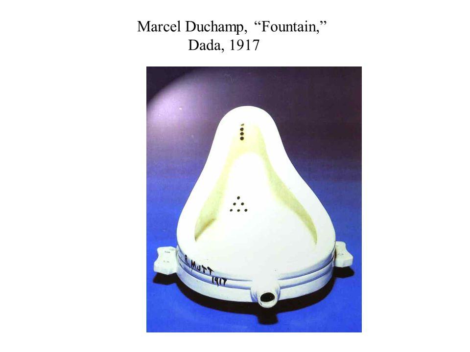 Marcel Duchamp, Fountain, Dada, 1917