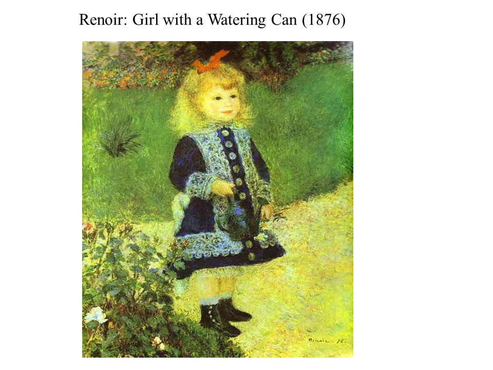 Renoir: Girl with a Watering Can (1876)