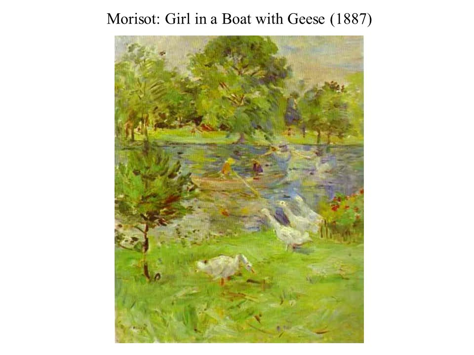Morisot: Girl in a Boat with Geese (1887)