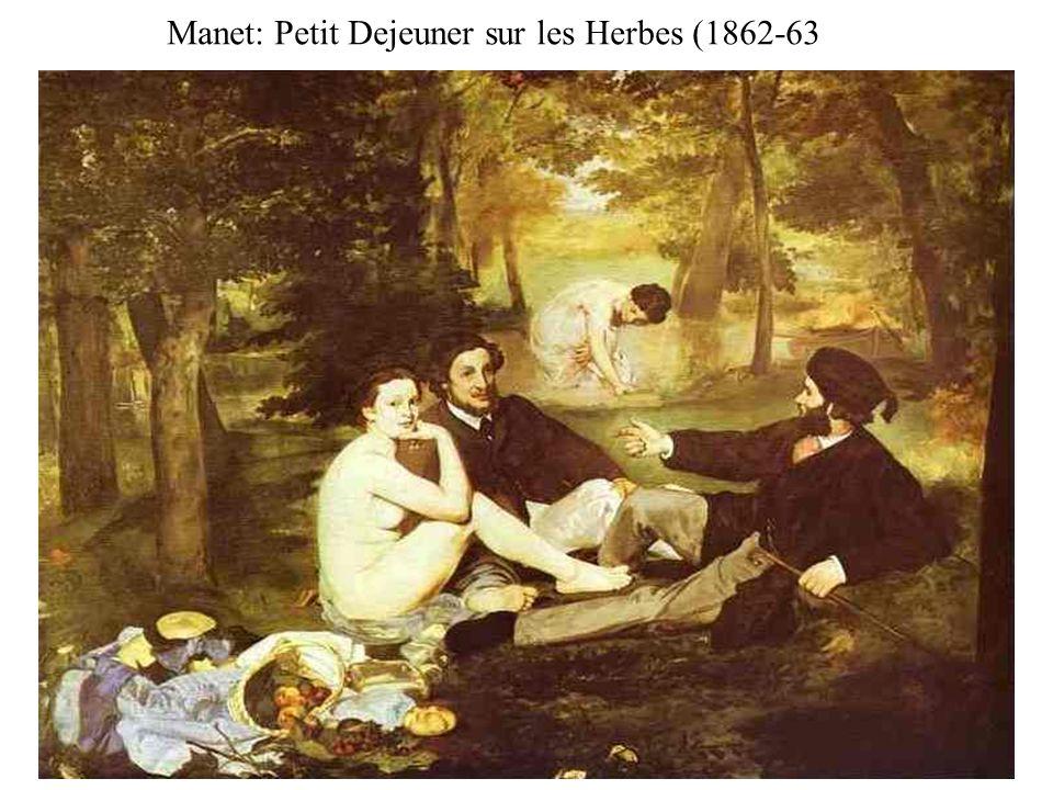 Manet: Petit Dejeuner sur les Herbes (1862-63