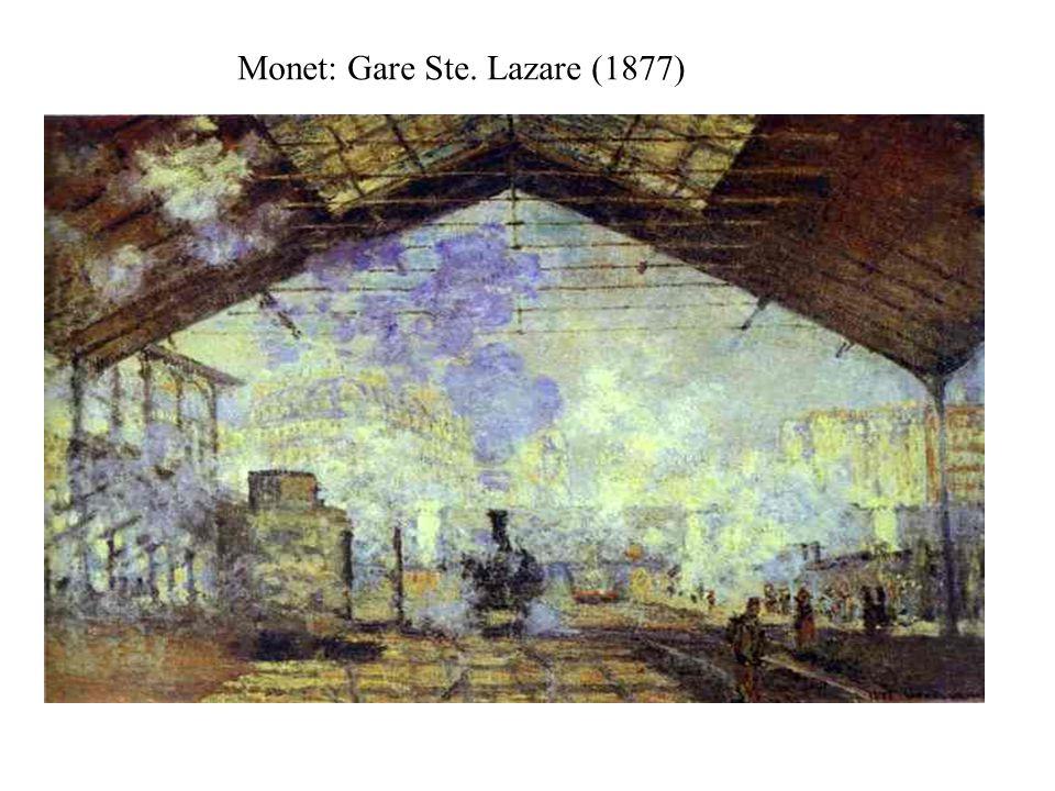 Monet: Gare Ste. Lazare (1877)