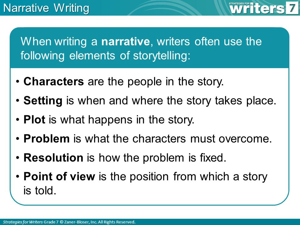 Strategies for Writers Grade 7 © Zaner-Bloser, Inc.