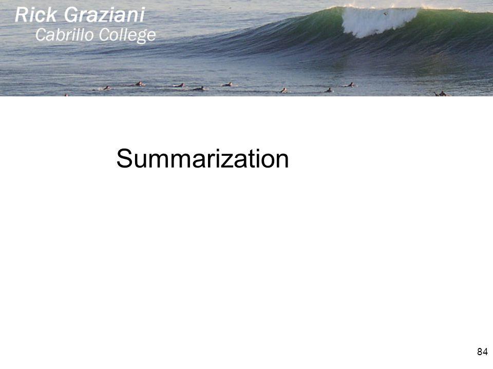 Summarization 84