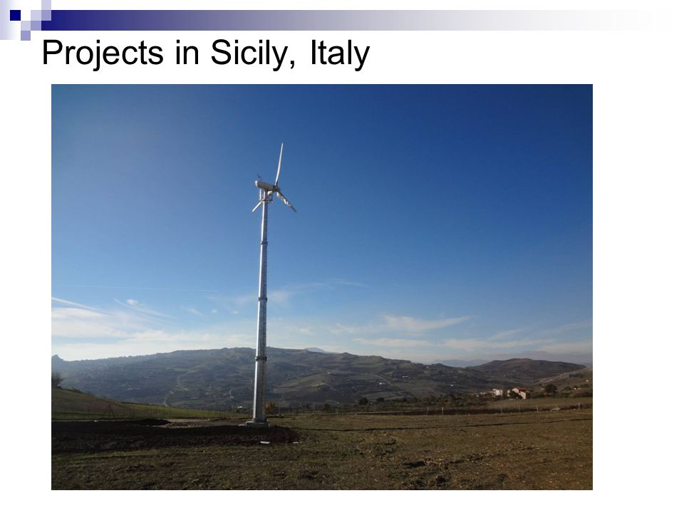Projects in Sicily, Italy