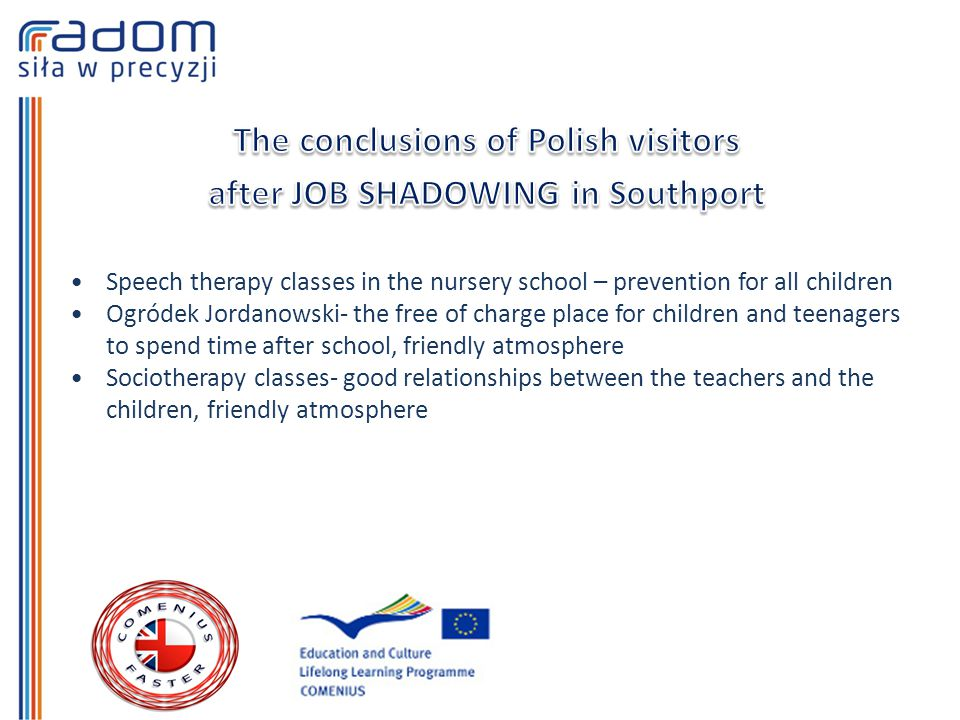 Speech therapy classes in the nursery school – prevention for all children Ogródek Jordanowski- the free of charge place for children and teenagers to