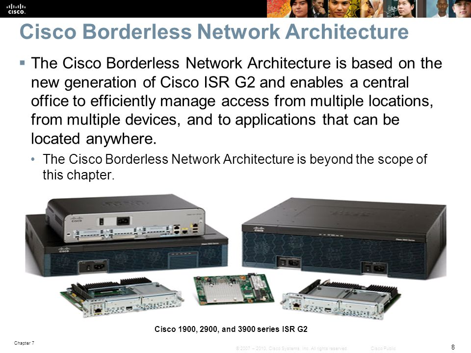 Chapter 7 69 © 2007 – 2010, Cisco Systems, Inc.All rights reserved.