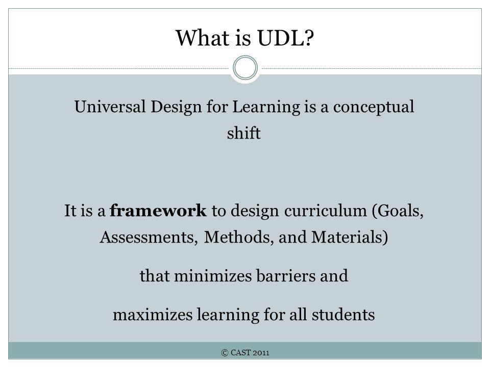 © CAST 2011 What is UDL.