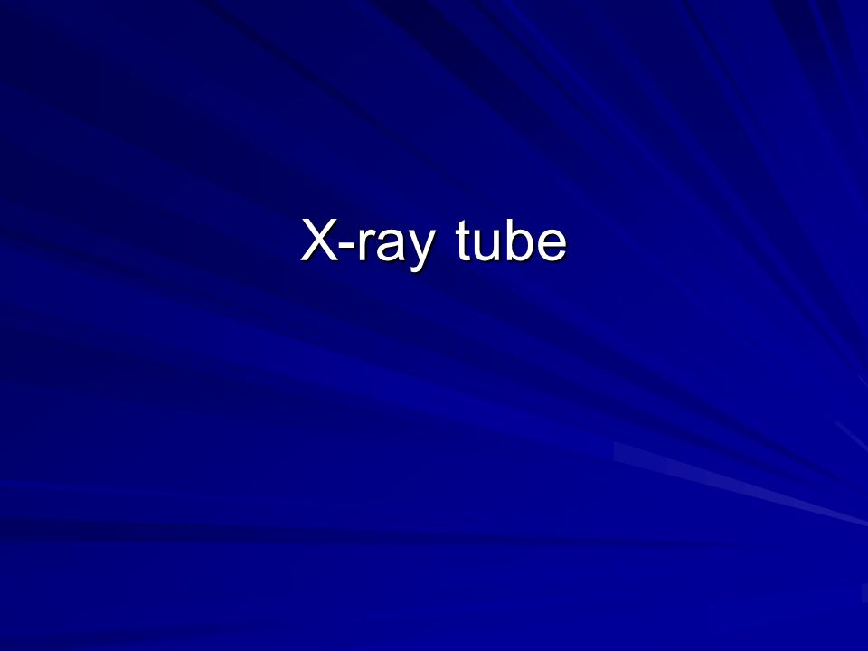The X-Ray Tube Glass Envelope The glass envelope is made of Pyrex to withstand the tremendous heat produced during x- ray.