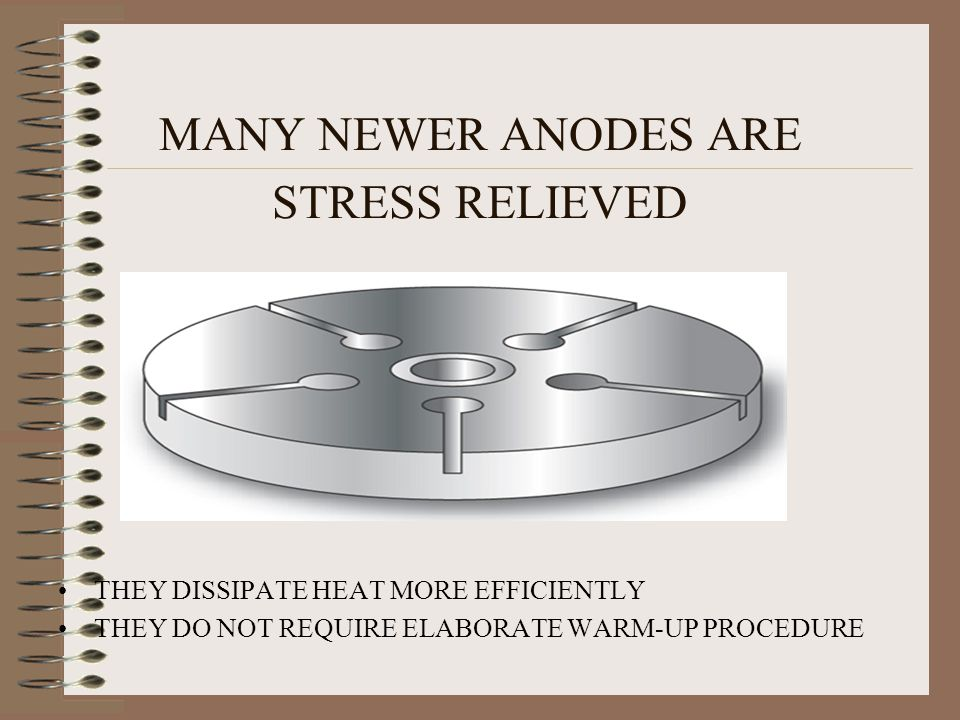 FAILURE TO FOLLOW THE WARM-UP PROCEDURE CAN CAUSE THE WHOLE ANODE TO CRACK.