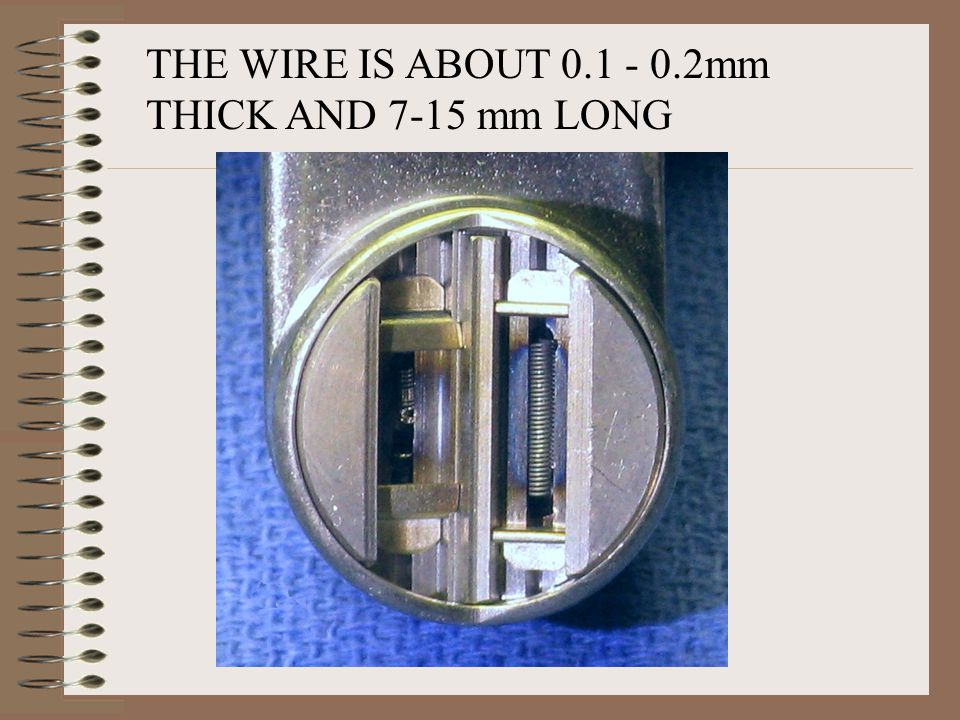 THE WIRE IS ABOUT 0.1 - 0.2mm THICK AND 7-15 mm LONG