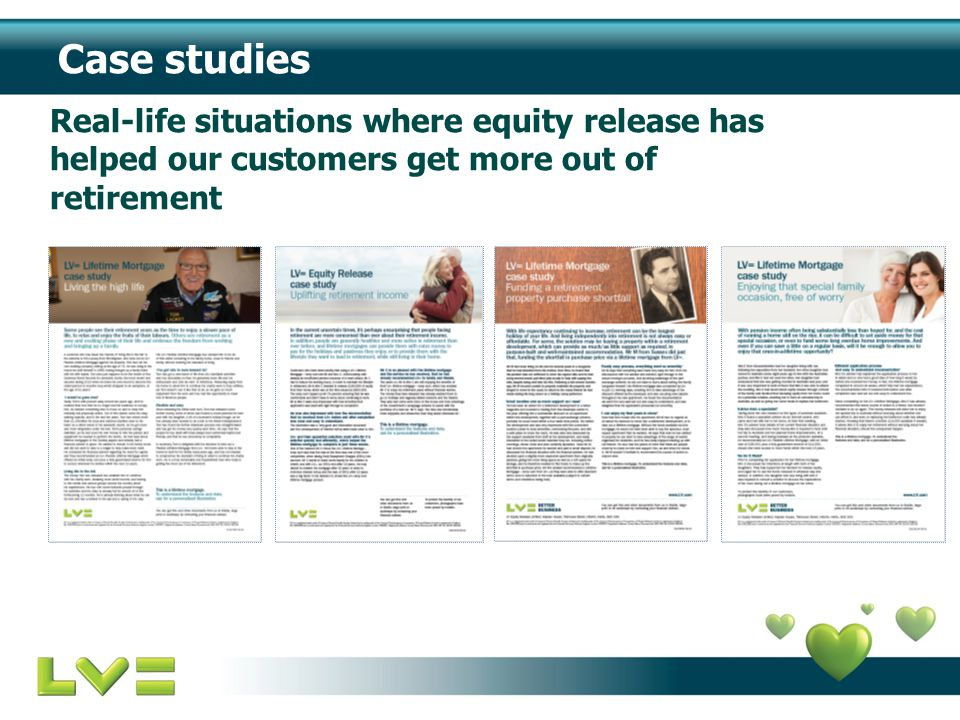 Case studies Real-life situations where equity release has helped our customers get more out of retirement