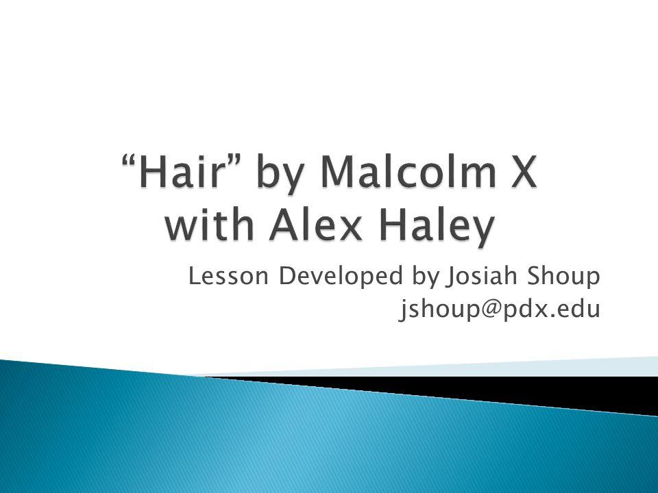Lesson Developed by Josiah Shoup jshoup@pdx.edu