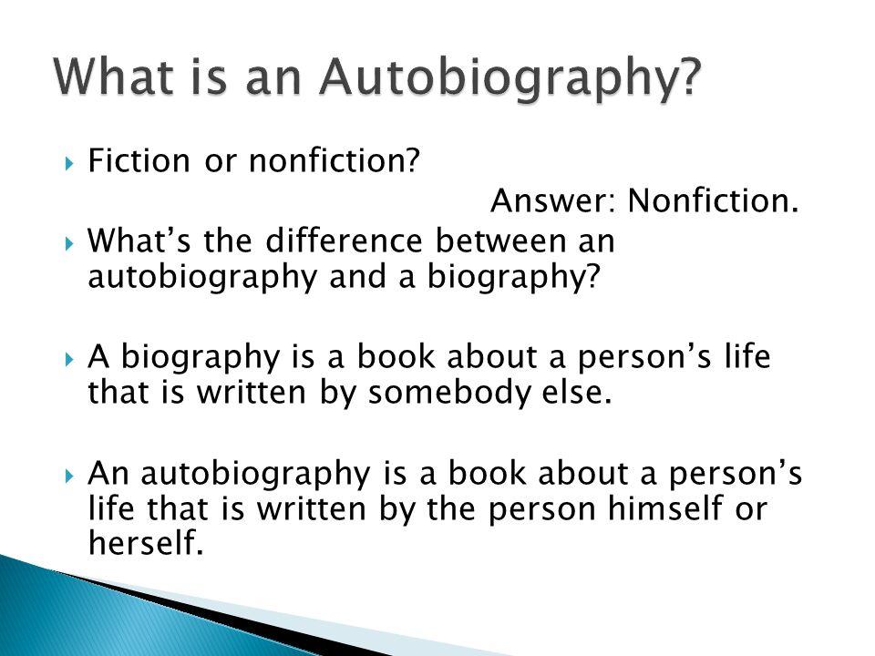  Fiction or nonfiction. Answer: Nonfiction.