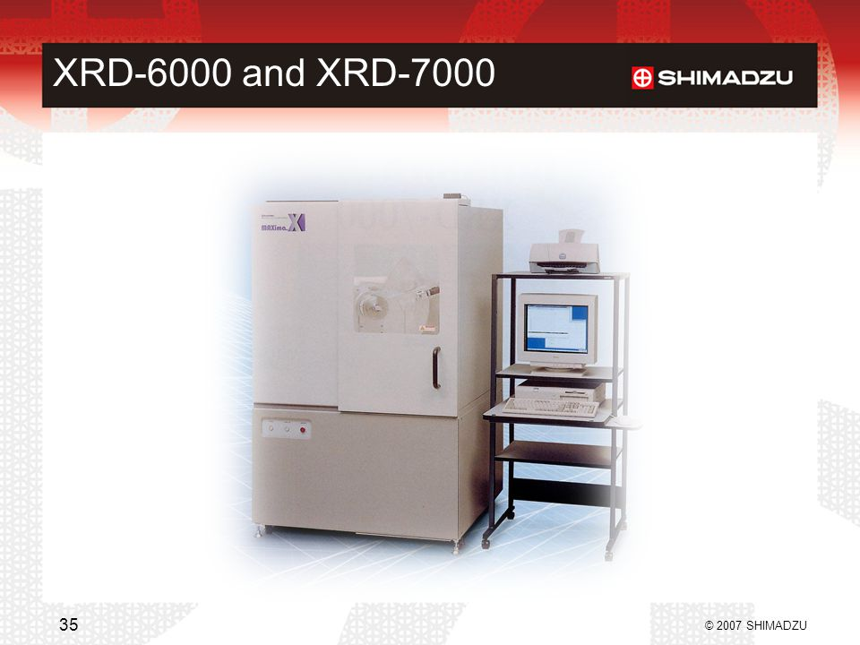 XRD-6000 and XRD-7000 © 2007 SHIMADZU 35